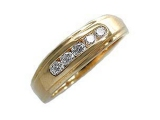 - Jewelry Stores - Mens Diamond 5 Stone Ring
